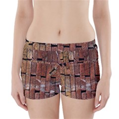 Wood Logs Wooden Background Boyleg Bikini Wrap Bottoms