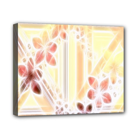 Swirl Flower Curlicue Greeting Card Canvas 10  x 8