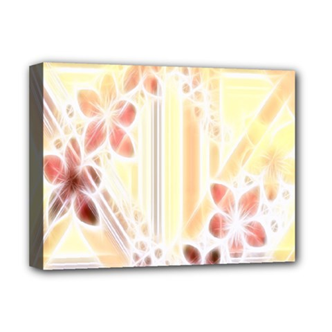 Swirl Flower Curlicue Greeting Card Deluxe Canvas 16  x 12