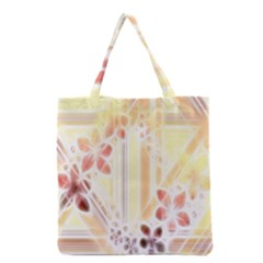Swirl Flower Curlicue Greeting Card Grocery Tote Bag