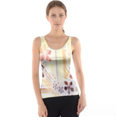 Swirl Flower Curlicue Greeting Card Tank Top