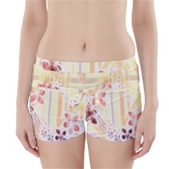 Swirl Flower Curlicue Greeting Card Boyleg Bikini Wrap Bottoms