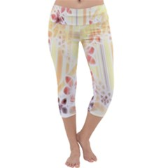 Swirl Flower Curlicue Greeting Card Capri Yoga Leggings