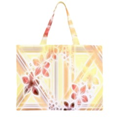 Swirl Flower Curlicue Greeting Card Large Tote Bag
