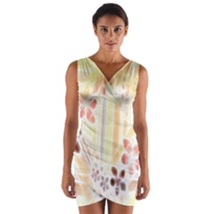 Swirl Flower Curlicue Greeting Card Wrap Front Bodycon Dress