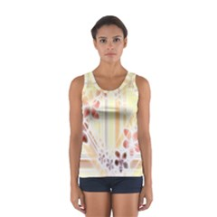 Swirl Flower Curlicue Greeting Card Women s Sport Tank Top