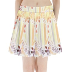 Swirl Flower Curlicue Greeting Card Pleated Mini Skirt
