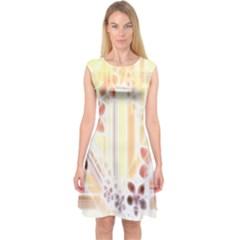 Swirl Flower Curlicue Greeting Card Capsleeve Midi Dress