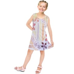 Swirl Flower Curlicue Greeting Card Kids  Tunic Dress