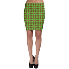 Wrapping Paper Christmas Paper Bodycon Skirt
