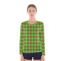 Wrapping Paper Christmas Paper Women s Long Sleeve Tee