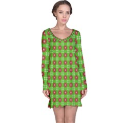 Wrapping Paper Christmas Paper Long Sleeve Nightdress