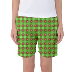 Wrapping Paper Christmas Paper Women s Basketball Shorts