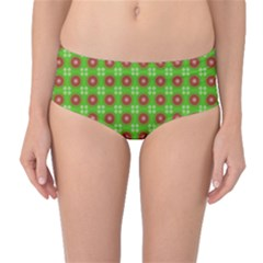 Wrapping Paper Christmas Paper Mid-Waist Bikini Bottoms