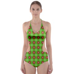 Wrapping Paper Christmas Paper Cut-Out One Piece Swimsuit