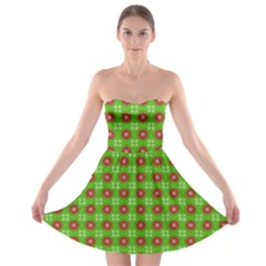 Wrapping Paper Christmas Paper Strapless Bra Top Dress