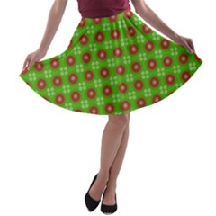 Wrapping Paper Christmas Paper A-line Skater Skirt