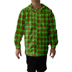 Wrapping Paper Christmas Paper Hooded Wind Breaker (Kids)