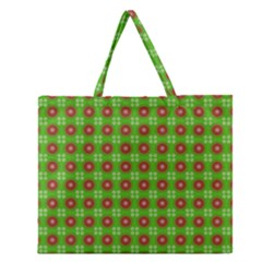 Wrapping Paper Christmas Paper Zipper Large Tote Bag
