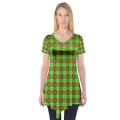 Wrapping Paper Christmas Paper Short Sleeve Tunic