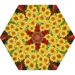 Sunflowers Flowers Abstract Mini Folding Umbrellas