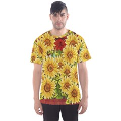 Sunflowers Flowers Abstract Men s Sport Mesh Tee