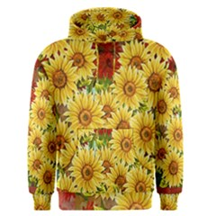 Sunflowers Flowers Abstract Men s Pullover Hoodie