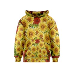 Sunflowers Flowers Abstract Kids  Pullover Hoodie