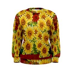 Sunflowers Flowers Abstract Women s Sweatshirt