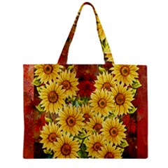 Sunflowers Flowers Abstract Zipper Mini Tote Bag