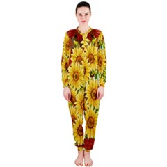 Sunflowers Flowers Abstract OnePiece Jumpsuit (Ladies)