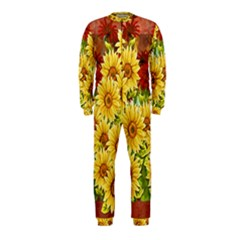 Sunflowers Flowers Abstract OnePiece Jumpsuit (Kids)