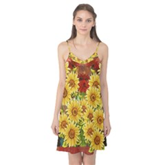 Sunflowers Flowers Abstract Camis Nightgown
