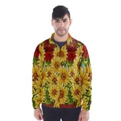 Sunflowers Flowers Abstract Wind Breaker (men)
