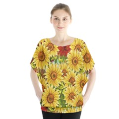 Sunflowers Flowers Abstract Blouse