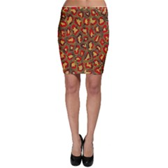 Stylized Background For Scrapbooking Or Other Bodycon Skirt