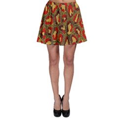Stylized Background For Scrapbooking Or Other Skater Skirt