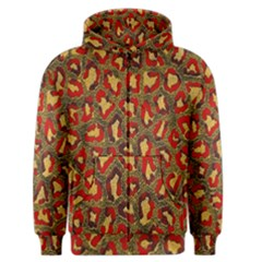 Stylized Background For Scrapbooking Or Other Men s Zipper Hoodie