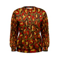 Stylized Background For Scrapbooking Or Other Women s Sweatshirt