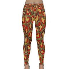 Stylized Background For Scrapbooking Or Other Classic Yoga Leggings