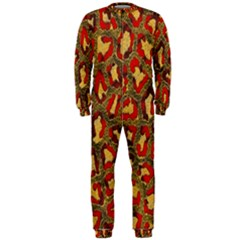 Stylized Background For Scrapbooking Or Other OnePiece Jumpsuit (Men)