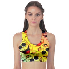 Abstract Background Backdrop Design Sports Bra