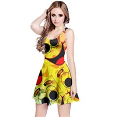 Abstract Background Backdrop Design Reversible Sleeveless Dress