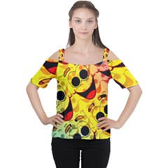 Abstract Background Backdrop Design Women s Cutout Shoulder Tee