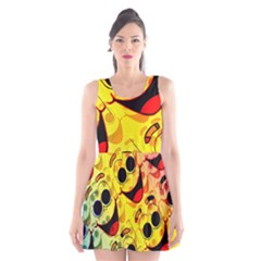 Abstract Background Backdrop Design Scoop Neck Skater Dress