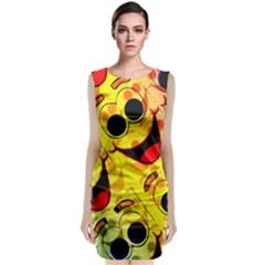 Abstract Background Backdrop Design Classic Sleeveless Midi Dress