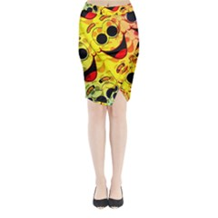 Abstract Background Backdrop Design Midi Wrap Pencil Skirt