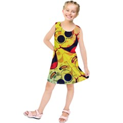 Abstract Background Backdrop Design Kids  Tunic Dress