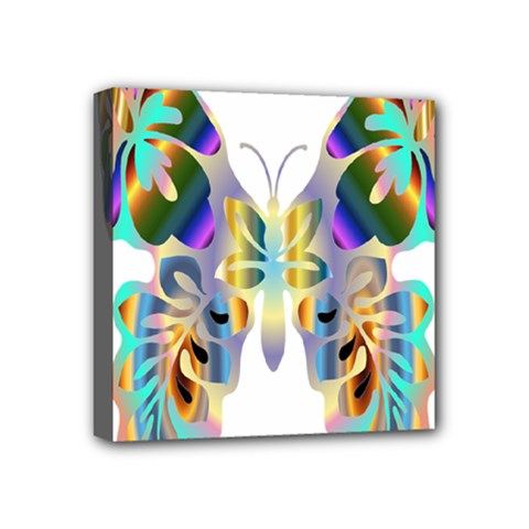 Abstract Animal Art Butterfly Mini Canvas 4  X 4