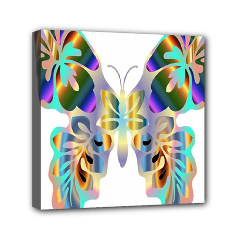 Abstract Animal Art Butterfly Mini Canvas 6  X 6